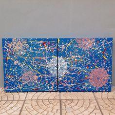 Uma tela das galáxias que terminei hoje! Tô amando este estilo! Mandalas combinam com tudo! E por aqui continuo a pintar A estante com a #chalkpaint caseira! Logo postarei tudo pra vocês! Já assistiram o vídeo? O link clicável do meu perfil levará você a vários links dentre eles o último vídeo. Confere lá! Que nossa semana seja abençoada!  #abstrato #pinturaabstrata #jacksonpollock #acrilicosobretela #mandala #painting #alemdaruaatelier #verokraemer