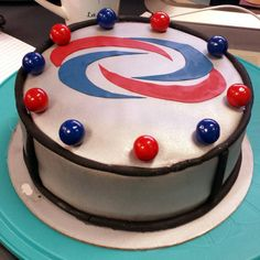Here's the #HenryDanger #cake before the shoot pre-cut fully gumballed.