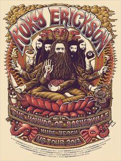 Roky Erickson US tour 2012 -- Posters | Mishka Westell