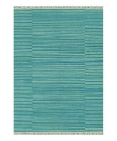 Take a look at this Aqua Anzio Wool Rug by Loloi Rugs on #zulily today!