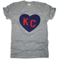 KC HEART | ATHLETIC GREY Love the fact that this is a local company that's gaining popularity