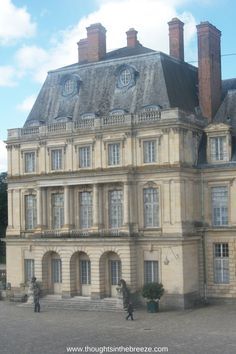 Fountainebleu palace in France, palaces and castles by Paris France.