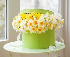 what an awesome centerpiece or a get-well spring gift for a friend.