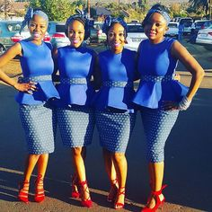 Tswana Traditional Dresses For Bridesmaids 2020 ⋆ African Bridesmaid Dresses, African Wedding Attire, Bridesmaid Dresses 2018, African Attire, African Fashion Dresses, African Dress, Bridesmaids, Queen Wedding Dress, Wedding Dress Trends