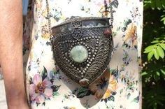 Sajai Ethnic Indian Silver Embellished Purse by StarShineVintage