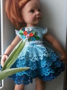 Новое платье для куклы (ГОТЦ) или В начале зимы - лето!!! / Одежда и обувь для кукол - своими руками и не только / Бэйбики. Куклы фото. Одежда для кукол