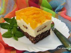 Ala piecze i gotuje Peach Jelly, Jelly Cake, Jello Recipes, Plum Cake, Pina Colada, Caramel, Cheesecake, Cooking Recipes, Pudding