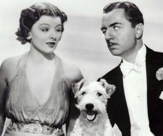Myrna Loy, William Powell and Asta, The Thin Man series