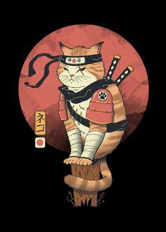 Japanese Artwork, Anime Drawings Boy, Cat Art, Samurai Artwork, Samurai Art, Japanese Art Modern, Poster Art, Japanese Tattoo Art, Art Wallpaper Iphone