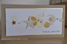 goldige Weihnachtskarte  #2 von Kreativ-ASS auf DaWanda.com