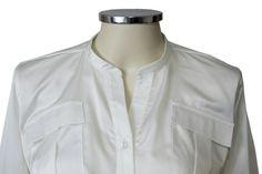 Camisa Gola V branca