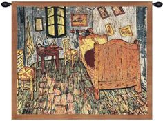 Woven in Belgium History: Van Gogh's The Bedroom Belgian tapestry is a representation of a piece by painter Vincent Van Gogh. Van Gogh's The Bedroom tapestry wa