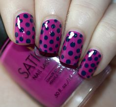 I love these colors and adore polka dots!
