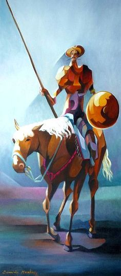 Damião Martins High Fantasy, Medieval Fantasy, Man Of La Mancha, Cubist Paintings, Dom Quixote, Don Miguel, Spanish Heritage, Fantasy Fiction, Arte Pop