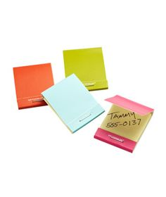 Matchbook sticky notes.