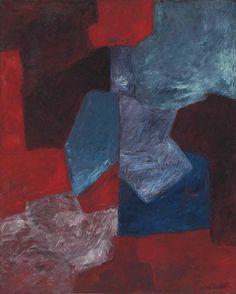 'Composition bleue, rouge et mauve' (1963) by Serge Poliakoff