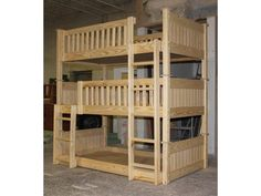 B064: Custom Triple Bunk Bed | The Bunk & Loft Factory