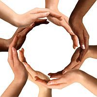 Multiracial Hands Making a Circle. Conceptual symbol of multiracial human hands , Inbound Marketing, Internet Marketing, Marketing Books, Content Marketing, Cota Racial, Creating Communities, Leader In Me, Interracial Love, We Are The World