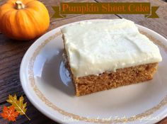 The frosting is totally different then another recipe I have pinned.   Sisters' Sweet and Tasty Temptations: Pumpkin Sheet Cake