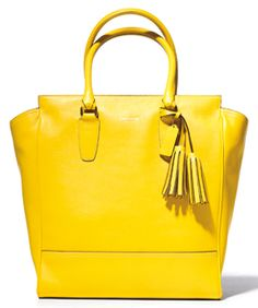 I need this new yellow tote from Coach, out this fall!