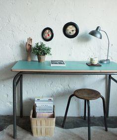 Bureau d'école – Console vintage - atelierdupetitparc.fr