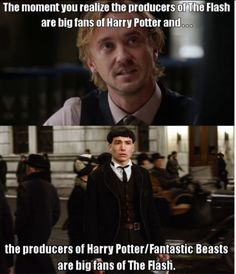 Harry Potter and the Flash relationship