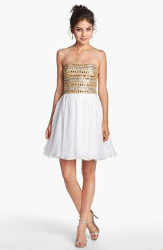 Sherri Hill Embellished Chiffon Fit & Flare Dress available at #Nordstrom