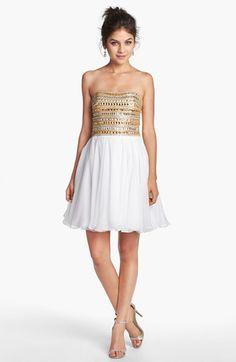 Sherri Hill Embellished Chiffon Dress
