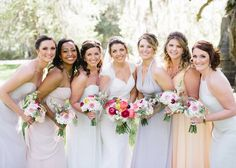 Magnolia Plantation Carriage House - Charleston Wedding Pastel Wedding colors bridal party
