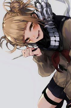 Manga Himiko Toga - My Hero Academia Animes Yandere, Yandere Anime, Chica Anime Manga, Tsundere, My Hero Academia Episodes, Hero Academia Characters, Buko No Hero Academia, My Hero Academia Manga, Anime Girls
