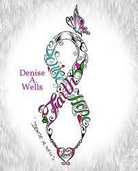 pink ribbon tattoo designs - Google Search