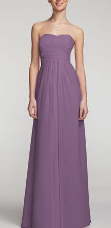 Wisteria.  David's bridal Style F15555  In love with this color. perfect for my wedding