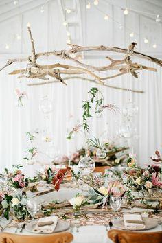 Déco bois flotte pour la table de mariage rustique ou vintage