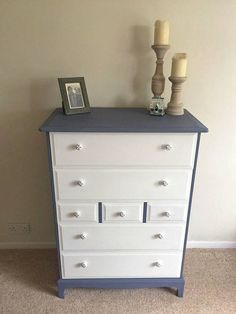 In Pair Of Mid Grey Matching Large Bedside Drawer Set With Carved Details By Jaycee Exquisite Workmanship