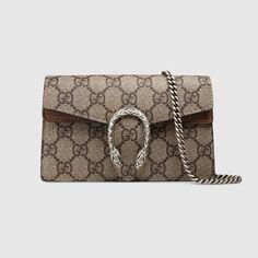225dfb388b2 Shop the Dionysus GG Supreme super mini bag by Gucci. A structured GG  Supreme canvas