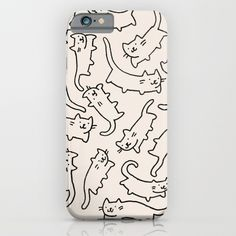 Floating Cats iPhone & iPod Case