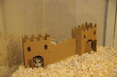 Diy hamster castle Lol soooo cute wish I did this before my hammy passed...!