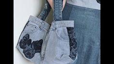 DIY Fashion Jeans BAG ( recycled denim) DIY Bag Vol 1A - YouTube