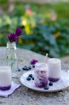 Blueberry white chocolate yogurt