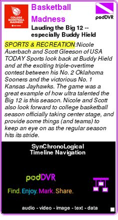 #SPORTS #PODCAST  Basketball Madness    Lauding the Big 12 -- especially Buddy Hield    LISTEN...  http://podDVR.COM/?c=7b507d7d-37d6-006e-67d6-b3428f60f488