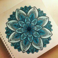 Mandala  #blue#lightblue