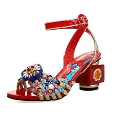 MILANO RUNWAY FASHION ETHNIC STYLE HEELS 1305345200178  US$94.00