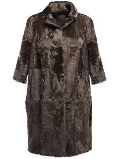 LISKA karakul lamb fur coat