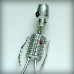 Halloween Skeleton home decor recycled art assemblage by leuckit