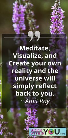 Meditate, visualize and create; these are the simplest 1, 2, 3's on how to create the life you desire. Harness the power of meditation and learn to quiet the mind, focus and ground. Visualize as if you already have it. #Meditate4change #LawofAttraction #subconsciousShift