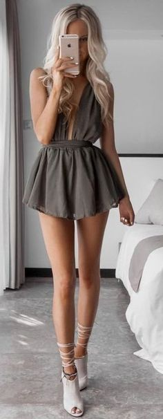 Taupe Playsuit Source