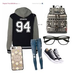 """""""My older sis!!!"""" by swagheart ❤ liked on Polyvore featuring Frame Denim, Converse, UNIONBAY, Casetify and Adina Reyter"""
