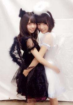 Asuka Saito&Hinako Kitano(Nogizaka46) Japanese Beauty, Japanese Fashion, Asian Beauty, Saito Asuka, Lala, Cosplay, Kawaii Clothes, Friend Photos, Kawaii Cute