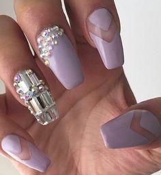 Rhinestone nail art nails design