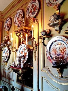Jacques Garcia ~ his home - porcelain room at champ de bataille